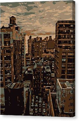 Rooftop Color 6 Canvas Print by Scott Kelley