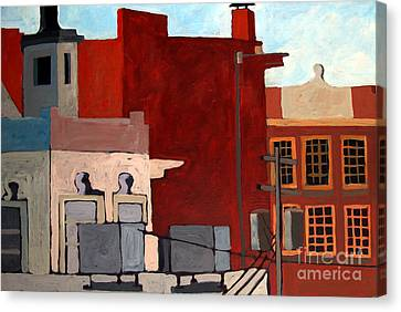 Rooftops Canvas Print by Charlie Spear
