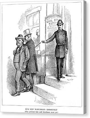 Roosevelt Cartoon, 1884 Canvas Print by Granger