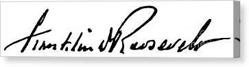 Roosevelt Signature Canvas Print by Granger