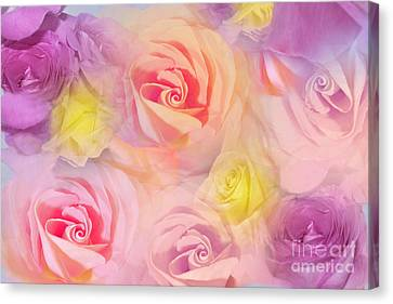 Rose Bouquet Canvas Print by Cindy Lee Longhini