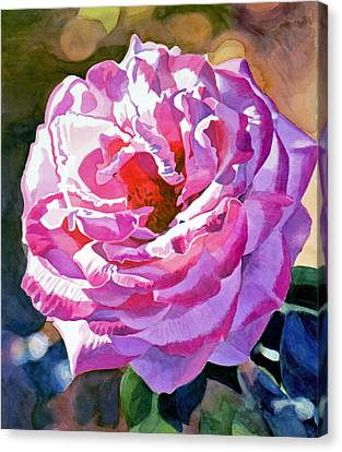 Rose Of The Temple Canvas Print by David Lloyd Glover