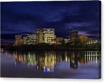 Rosslyn Skyline Canvas Print by Metro DC Photography