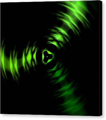 Rotation Green Canvas Print by Steve K