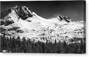 Round Top Mountain Canvas Print by A A