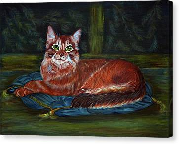 Royal Cat Canvas Print by Elena Melnikova