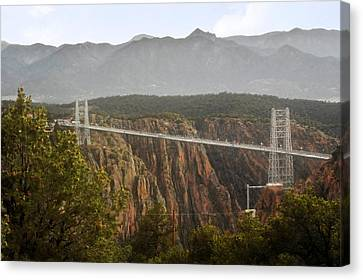Royal Gorge Bridge Colorado - The World's Highest Suspension Bridge Canvas Print by Christine Till