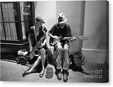 Royal Street Music Canvas Print by Leslie Leda