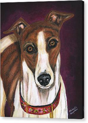 Royalty - Greyhound Painting Canvas Print by Michelle Wrighton