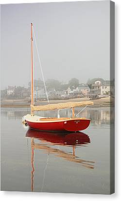 Ruby Red Catboat Canvas Print by Roupen  Baker
