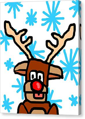 Rudolph's Portrait Canvas Print by Jera Sky