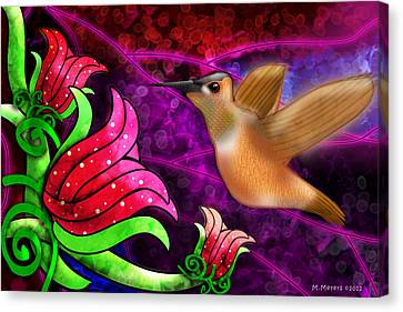 Rufous Dinner Guest Canvas Print by Melisa Meyers