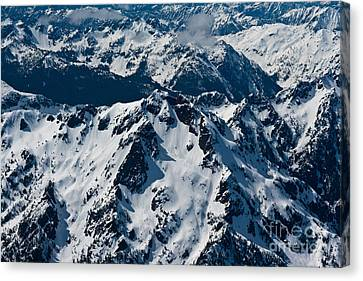 Rugged Olympic Mountains Canvas Print by Mike Reid