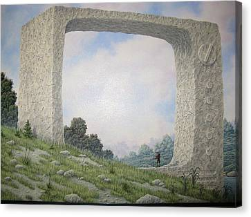 Ruins Of Analog Canvas Print by Arley Blankenship