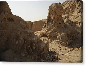 Ruins Of The Ancient City Of Ashur Canvas Print by Everett