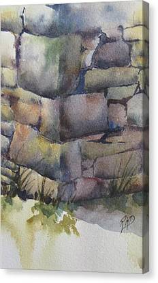 Ruins Canvas Print by Ramona Kraemer-Dobson