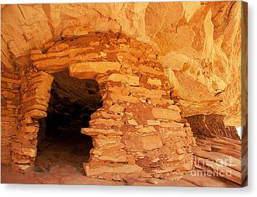 Ruins Structure Canvas Print by Bob and Nancy Kendrick