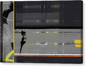 Run Canvas Print by Naxart Studio
