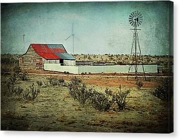 Rural Cow Pasture Canvas Print by Melany Sarafis
