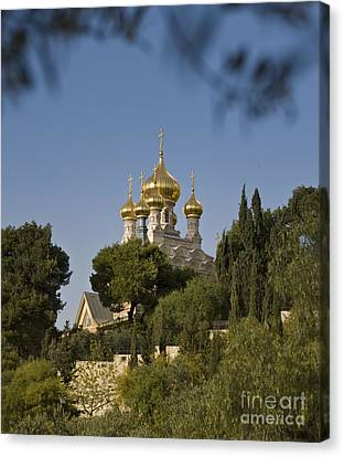 Russian Orthodox Church Canvas Print by Noam Armonn