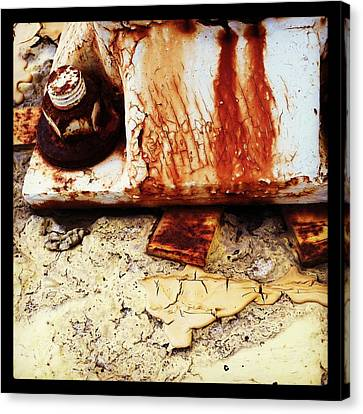 Rusty Bolt Abstraction Canvas Print by Anna Villarreal Garbis