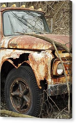 Rusty Ford Canvas Print by Luke Moore