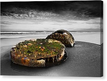 Rusty Parts Of Ship Canvas Print by Svetlana Sewell