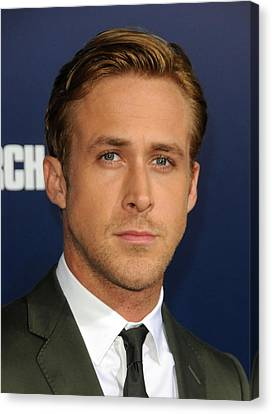 Ryan Gosling At Arrivals For The Ides Canvas Print by Everett