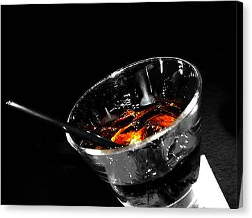 Rye And Coke Please Canvas Print by Jerry Cordeiro