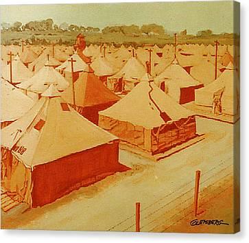 Saad Mural Panel 3 Canvas Print by Dean Gleisberg
