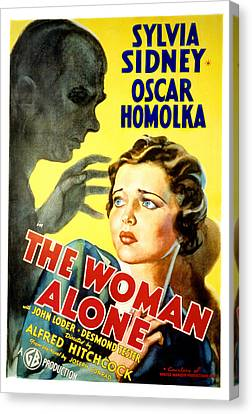 Sabotage, Aka The Woman Alone, Oscar Canvas Print by Everett