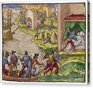 Sack Of Cartagena, C1544 Canvas Print by Granger