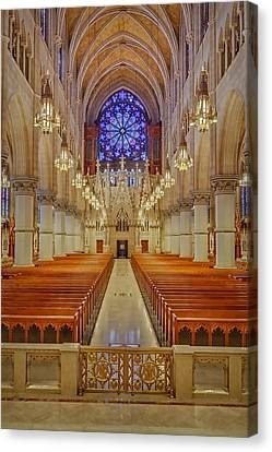 Sacred Heart Cathedral Basilica Canvas Print by Susan Candelario