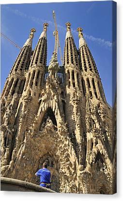 Sagrada Familia Barcelona Spain Canvas Print by Matthias Hauser