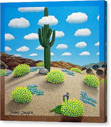 Saguaro Canvas Print by Snake Jagger