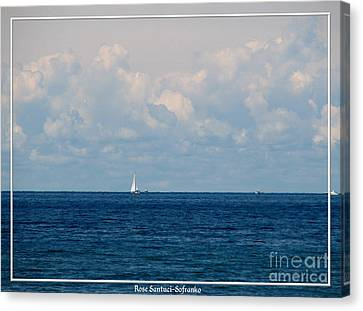 Sailboat On Lake Ontario Canvas Print by Rose Santuci-Sofranko