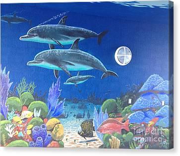 Sailfish Splash Park 2 Canvas Print by Carey Chen