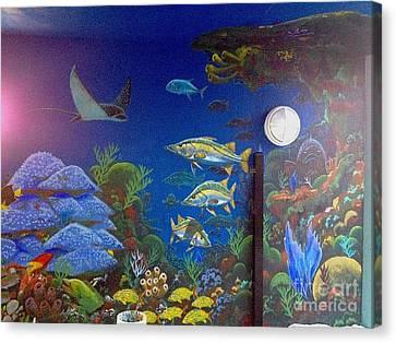 Sailfish Splash Park 9 Canvas Print by Carey Chen