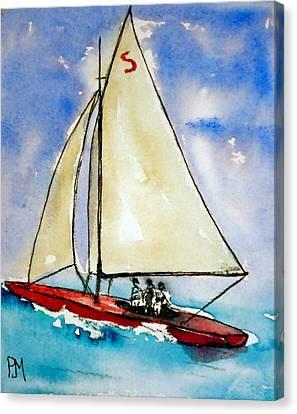 Sailin Canvas Print by Pete Maier