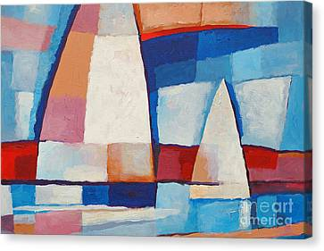Sailing Along Canvas Print by Lutz Baar