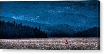 Sailing Priest Lake Canvas Print by David Patterson