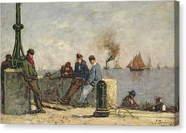 Sailors Canvas Print by Louis Alexandre Dubourg