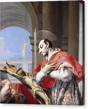 Saint Charles Borromeo Canvas Print by Giovanni Battista Tiepolo