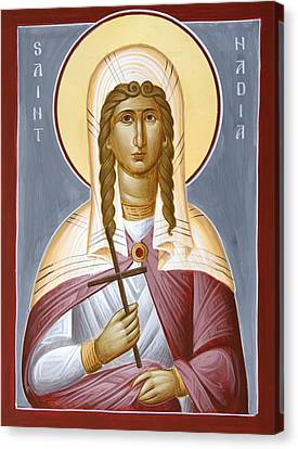 Saint Nadia - Hope Canvas Print by Julia Bridget Hayes