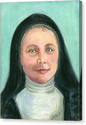 Saint Therese Of Lisieux Canvas Print by Susan  Clark