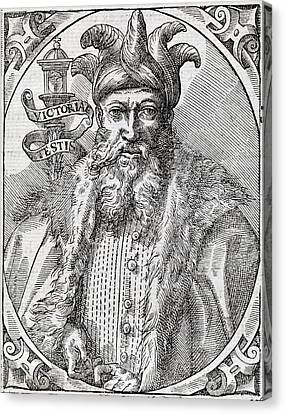 Saladin, Sultan Of Egypt And Syria Canvas Print by Middle Temple Library