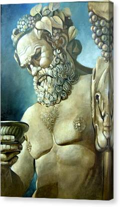 Salutations From Bacchus Canvas Print by Geraldine Arata