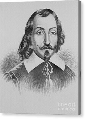 Samuel De Champlain Canvas Print by Photo Researchers