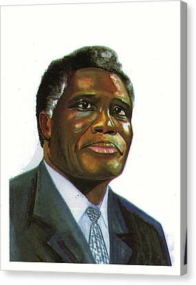 Samuel Kobia Canvas Print by Emmanuel Baliyanga