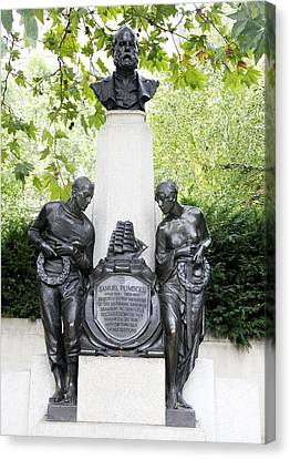 Samuel Plimsoll Commemorative Monument Canvas Print by Sheila Terry